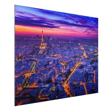 Quadro in alluminio - Parigi di notte