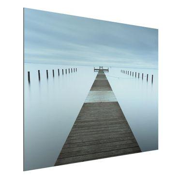 Quadro in alluminio - Pier In Svezia