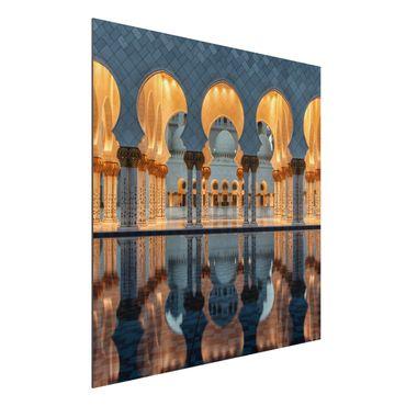 Quadro in alluminio - Riflessioni in moschea