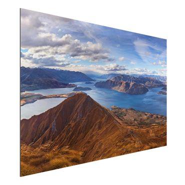 Quadro in alluminio - Roys Peak In New Zealand