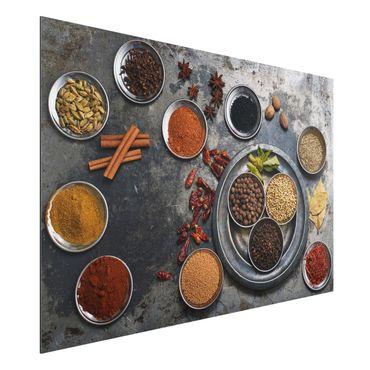 Quadro in alluminio - Shabby Spice Plate
