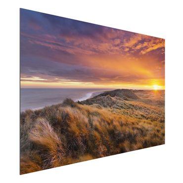 Quadro in alluminio - Sunrise at the beach on Sylt