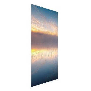 Quadro in alluminio - Alba Lago svedese