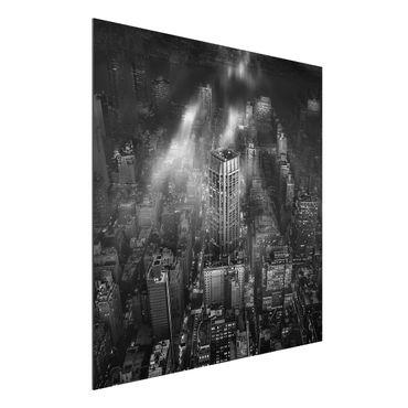 Quadro in alluminio - Luce del sole su New York