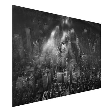 Quadro in alluminio - Luce del sole su New York
