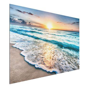 Quadro in alluminio - Sunset At The Beach