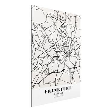 Quadro in alluminio - Frankfurt City City Map - Classical