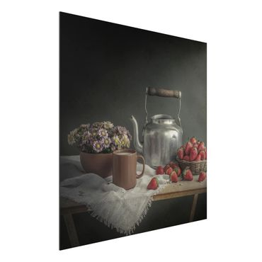 Quadro in alluminio - Still Life With Strawberries