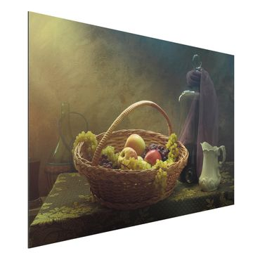 Quadro in alluminio - Still Life With Fruit Basket