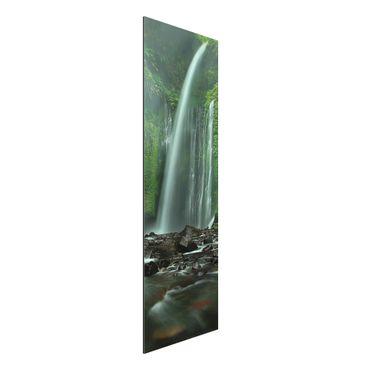 Quadro in alluminio - cascata tropicale