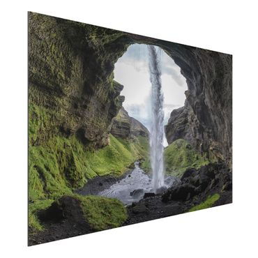 Quadro in alluminio - Hidden Waterfall