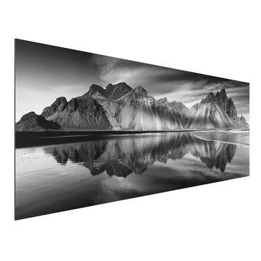 Quadro in alluminio - Vesturhorn In Islanda