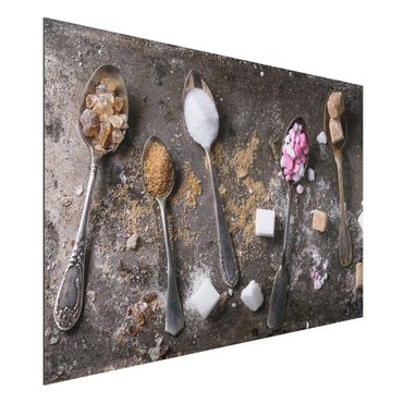 Quadro in alluminio - Vintage Spoon With Sugar