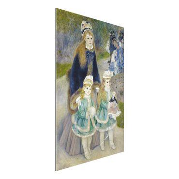 Quadro in alluminio - Auguste Renoir - Madre e Figli (La Passeggiata) - Impressionismo