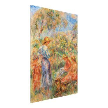 Quadro in alluminio - Auguste Renoir - Tre Donne e Bambini in un Paesaggio - Impressionismo