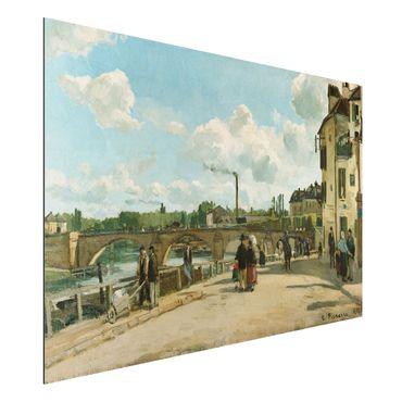 Quadro in alluminio - Camille Pissarro - Vista di Pontoise, Quai du Pothuis - Impressionismo