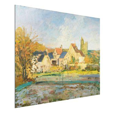 Quadro in alluminio - Camille Pissarro - Paesaggio vicino Pontoise - Impressionismo