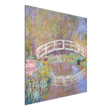 Quadro in alluminio - Claude Monet - Il Ponte nel Giardino di Monet - Impressionismo