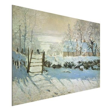 Quadro in alluminio - Claude Monet - La Gazza - Impressionismo