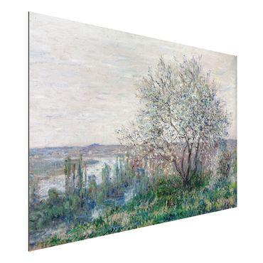 Quadro in alluminio - Claude Monet - Primavera a Vétheuil - Impressionismo