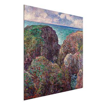 Quadro in alluminio - Claude Monet - Gruppo di Rocce a Port Goulphar - Impressionismo