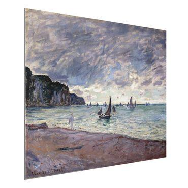 Quadro in alluminio - Claude Monet - Barche da Pesca di Fronte alla Spiaggia e le Scogliere di Pourville - Impressionismo