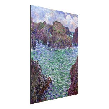 Quadro in alluminio - Claude Monet - Port-Goulphar, Belle-Île - Impressionismo