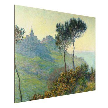 Quadro in alluminio - Claude Monet - La Chiesa di Varengeville al Tramonto - Impressionismo