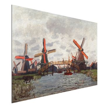 Quadro in alluminio - Claude Monet - Mulini in Westzijderveld vicino Zaandam - Impressionismo