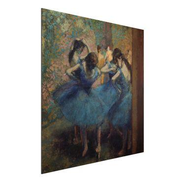 Quadro in alluminio - Edgar Degas - Ballerine in blu - Impressionismo