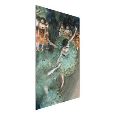 Quadro in alluminio - Edgar Degas - Ballerina verde - Impressionismo