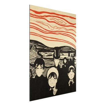Quadro in alluminio - Edvard Munch - Ansia - Espressionismo