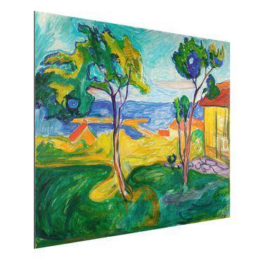 Quadro in alluminio - Edvard Munch - Il Giardino in Åsgårdstrand - Espressionismo