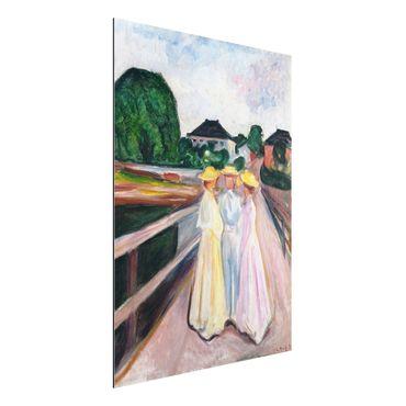 Quadro in alluminio - Edvard Munch - Tre Ragazze sul Ponte - Espressionismo