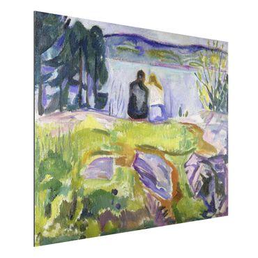 Quadro in alluminio - Edvard Munch - Primavera (Paio Amore sulla Riva) - Espressionismo