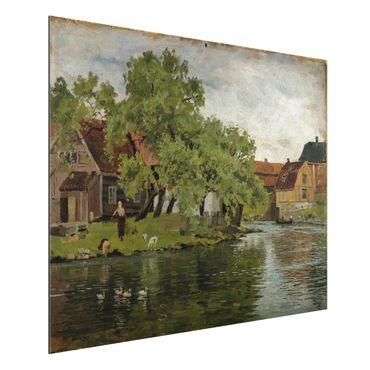 Quadro in alluminio - Edvard Munch - Scene sul Fiume Akerselven - Espressionismo