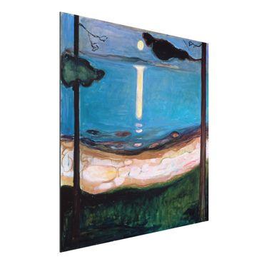 Quadro in alluminio - Edvard Munch - Notte di Luna - Espressionismo