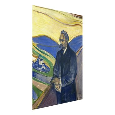 Quadro in alluminio - Edvard Munch - Ritratto di Friedrich Nietzsche - Espressionismo