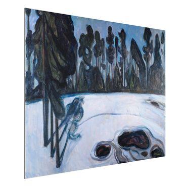 Quadro in alluminio - Edvard Munch - Notte delle Stelle - Espressionismo