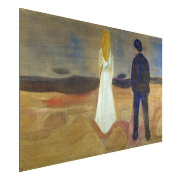 Quadro in alluminio - Edvard Munch - Due persone. Solitario (Reinhardt-Fries) - Espressionismo