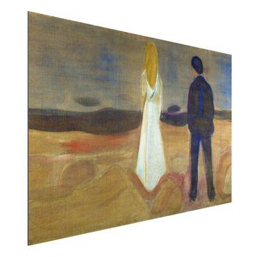 Quadro in alluminio - Edvard Munch - Due persone. Solitario (Reinhardt-Fries) - Espressionismo