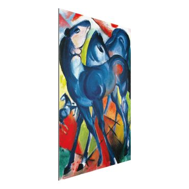 Quadro in alluminio - Franz Marc - Puledri Blu - Espressionismo