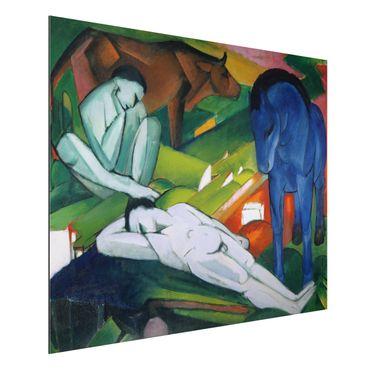 Quadro in alluminio - Franz Marc - I Pastori - Espressionismo