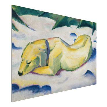 Quadro in alluminio - Franz Marc - Cane che si trova nella Neve - Espressionismo