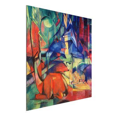 Quadro in alluminio - Franz Marc - Cervi nella Foresta II - Espressionismo
