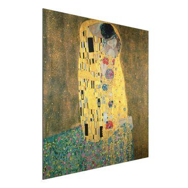 Quadro in alluminio - Gustav Klimt - Il Bacio - Art Nouveau