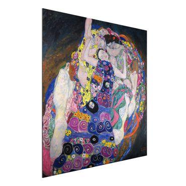 Quadro in alluminio - Gustav Klimt - La Vergine - Art Nouveau