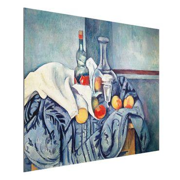 Quadro in alluminio - Paul Cézanne - Natura morta con Bottiglia di Liquore alla Menta - Impressionismo
