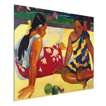 Quadro in alluminio - Paul Gauguin - Parau Api (Due donne tahitiane) - Post-Impressionismo
