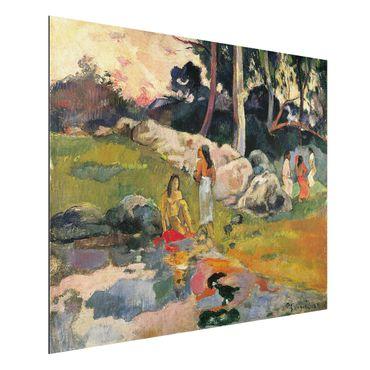 Quadro in alluminio - Paul Gauguin - Donna sulle rive del fiume - Post-Impressionismo